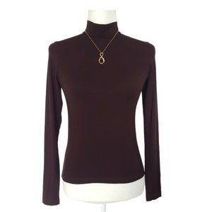 Juicy Couture Brown Turtleneck Long Sleeve Size M